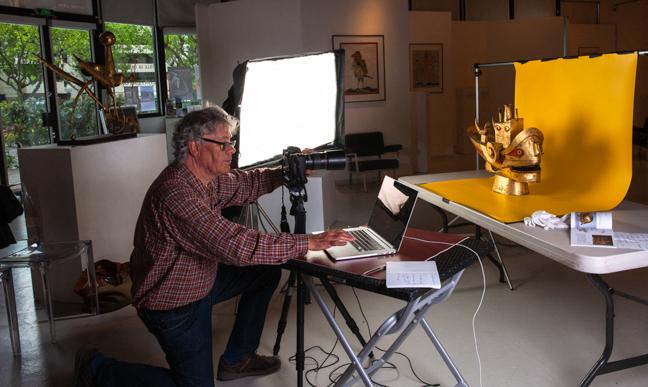 Notre studio mobile dans un musée d'art contemporain.