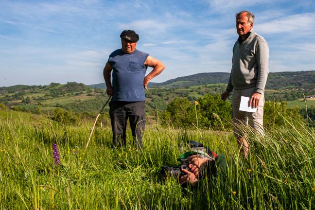 En Aveyron lors de la réalisation du livre